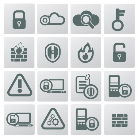 Security icon set,vintage style Vector