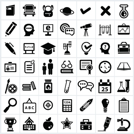 Education icon set Illustration
