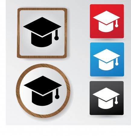 graduation hat: Celebrating graduating hat,sign