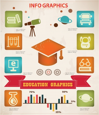 Education infomation graphics design  Vector
