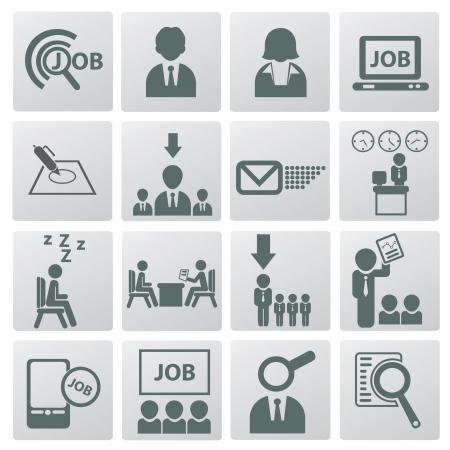 job search: Job and business man icons