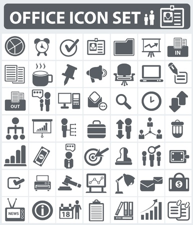 Office and human resource icon set Vector