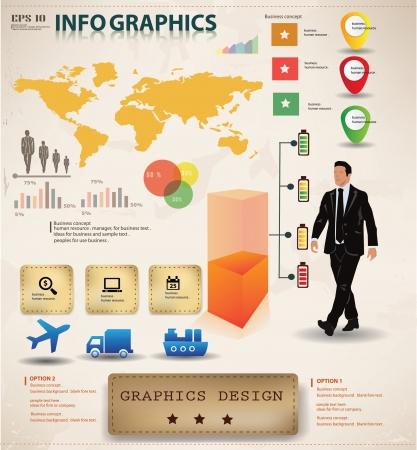 demografia: Empresas de dise�o gr�fico, gr�ficos info Vectores