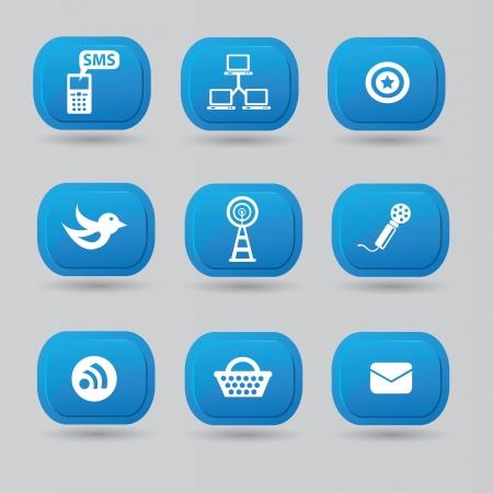 Social media,icon set Stock Vector - 18781536