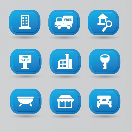 House sign,icons  Illustration