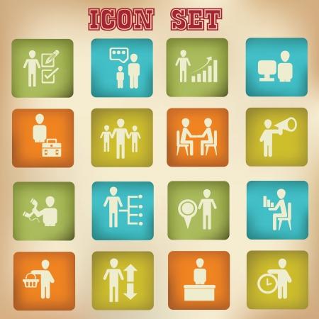recursos humanos: Negocios, recursos humanos, iconos