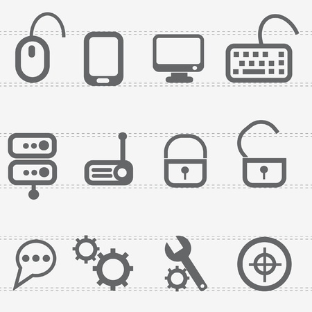 Computer icon set Stock Vector - 19337375