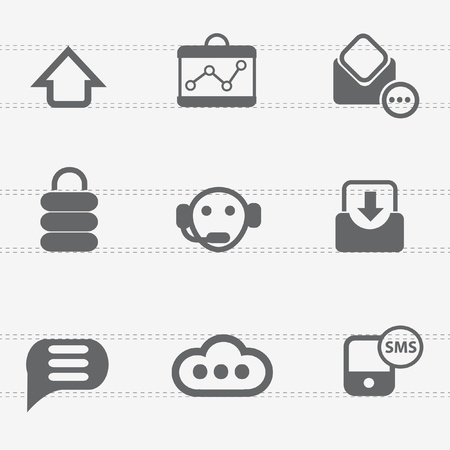 Call center and technology icons Stock Vector - 19337373