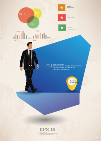Blank for text,business man,vector  Stock Vector - 19337326