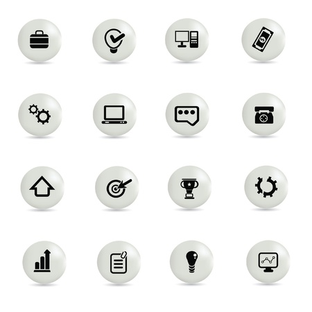Web icon set,vector Stock Vector - 19337315
