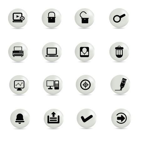 Web,technology icon set,vector  Stock Vector - 19337311