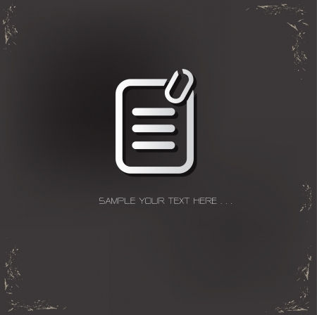 Text file Sign Stock Vector - 19304249