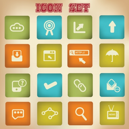 Business and social network,web icons Vector