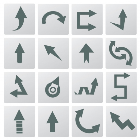 curved arrows: Arrows  Illustration