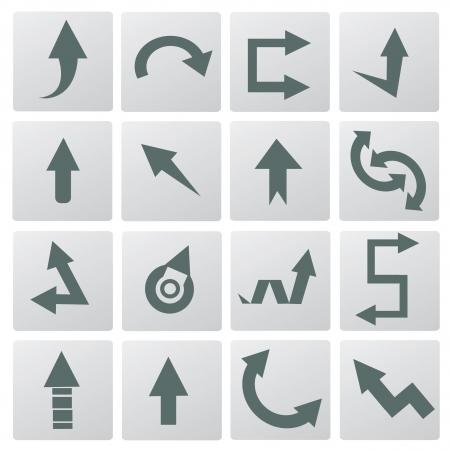 flechas curvas: Flechas Vectores