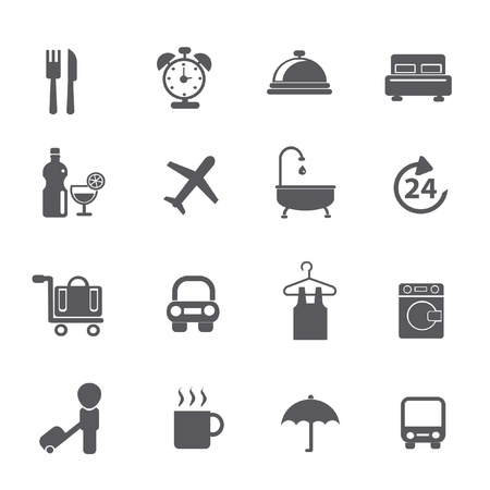 Hotel icons Stock Vector - 19303763