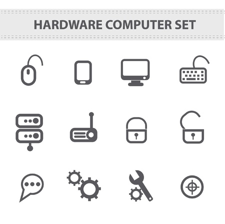 Hardware icons  Stock Vector - 19303767