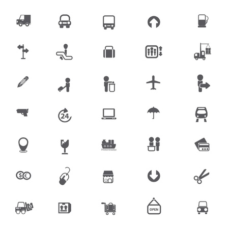 ecommerce icons: Shipping, logistics, e-commerce icons