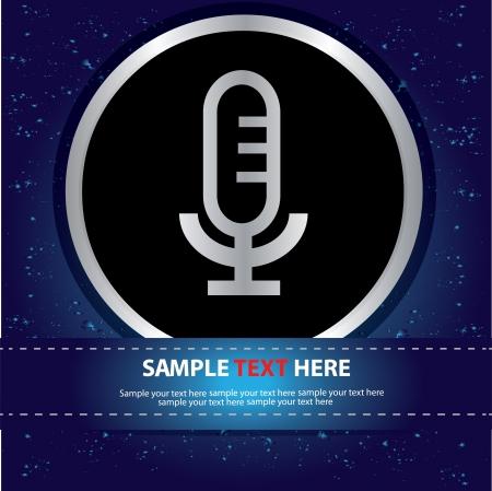 airwaves: Microphone sign  Illustration