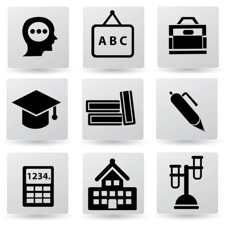Education and science sign,icon set Vector