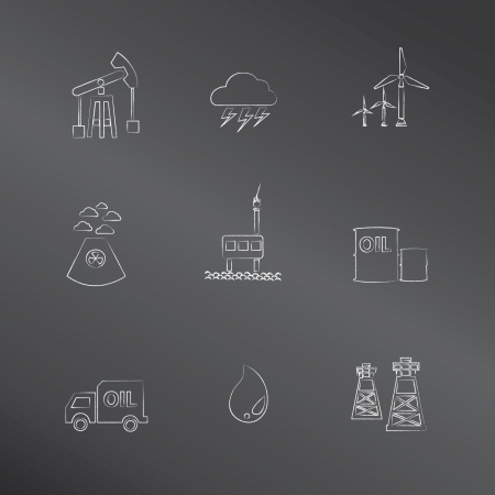 Energy,oil and gas icons Vector