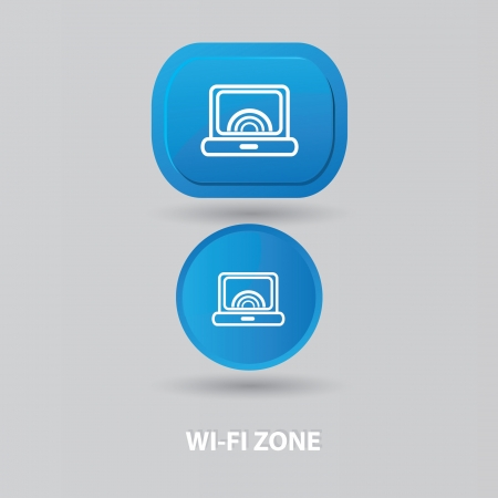 telephone mast: Wi-fi zone sign Illustration