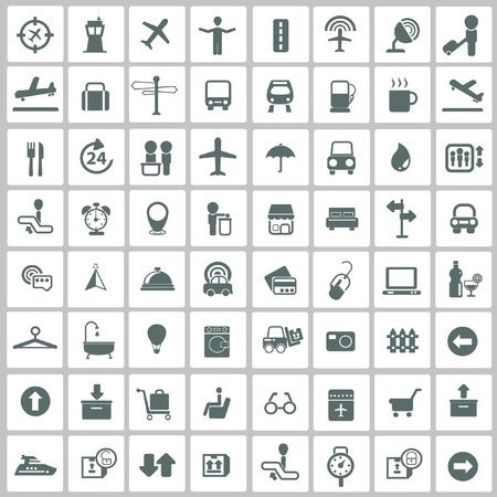 handicap: Airport,Travel icon set Illustration