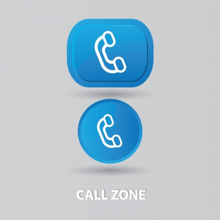 toll free: Call center sign Illustration