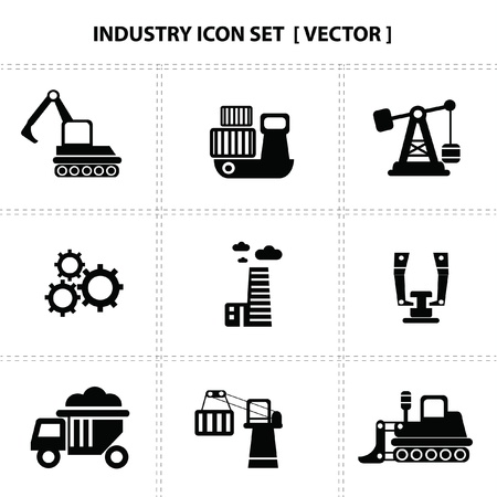 gas lamp: Industry icons Illustration