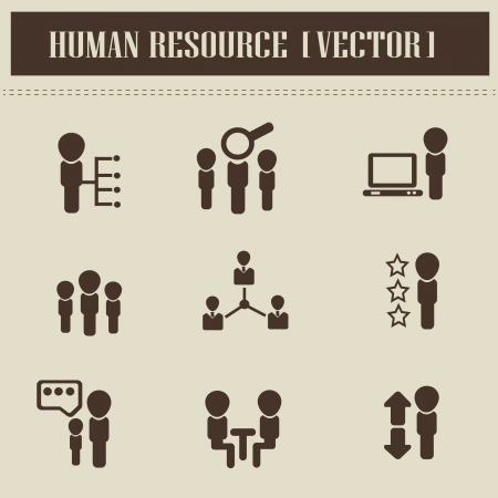 Human resource,business,icons Vector