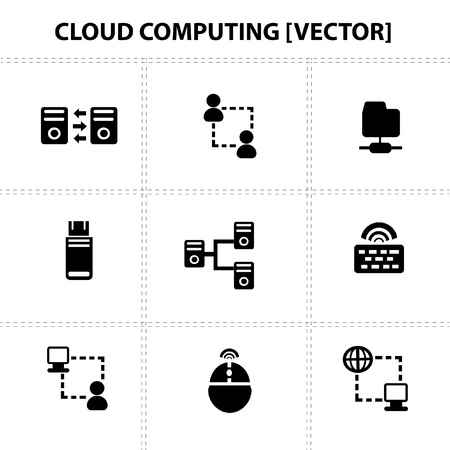 Cloud computing,icons Vector