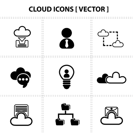 Cloud computing,connectio,icons Stock Vector - 19206575