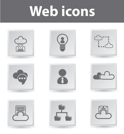 Cloud computing,connection,icons Stock Vector - 19207901