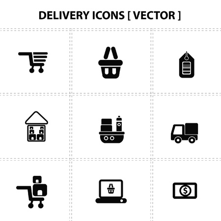 Delivery,Buy and sale,icons Stock Vector - 19206561