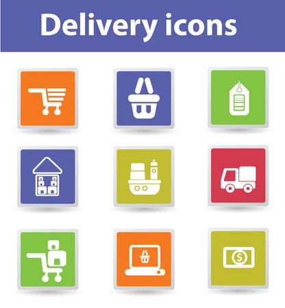 received: Delivery,Buy and sale,icons Illustration