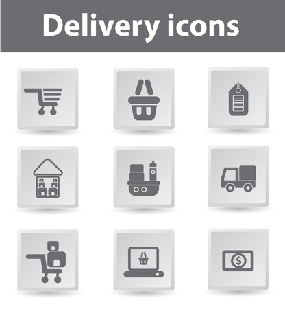 Delivery,Buy and sale,icons Stock Vector - 19207902