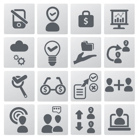 Business,Human resource management icons Vector
