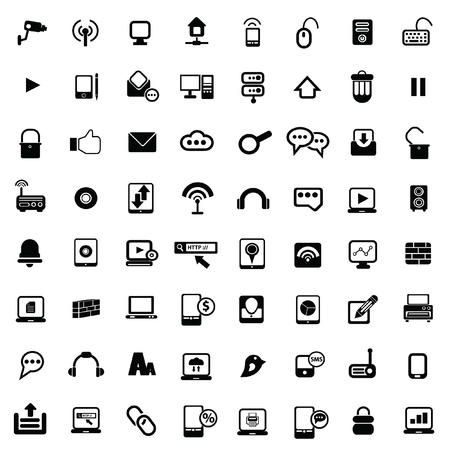 Web Universal icons For Web and communication