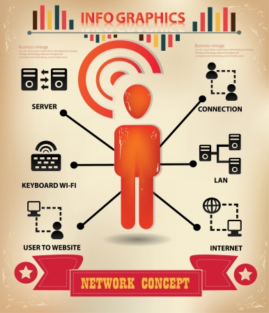 Wireless and technology,communication,graphics design Vector