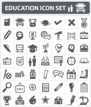 apple computer: Education icon set Illustration