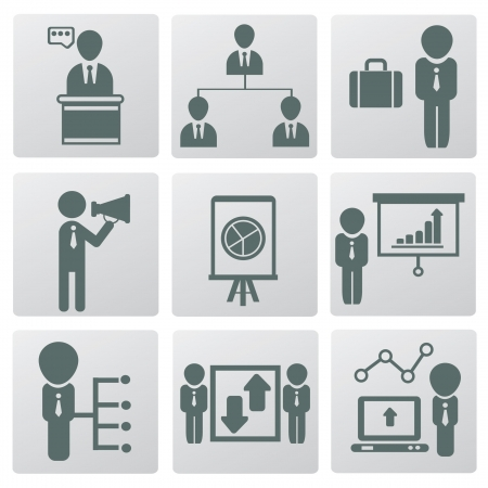 Organization,Human resource and management,icons,ve ctor Stock Vector - 19207440