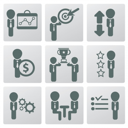 Human resource and management,icons,ve ctor  Stock Vector - 19207508
