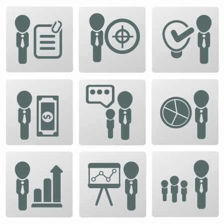 Human resource and management,icons,ve ctor  Stock Vector - 19207506