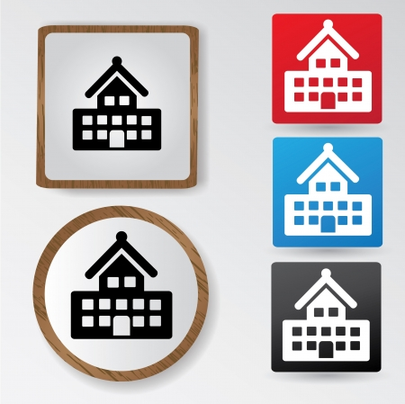 Building sign Vector