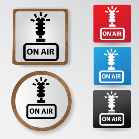 On air sign Illustration