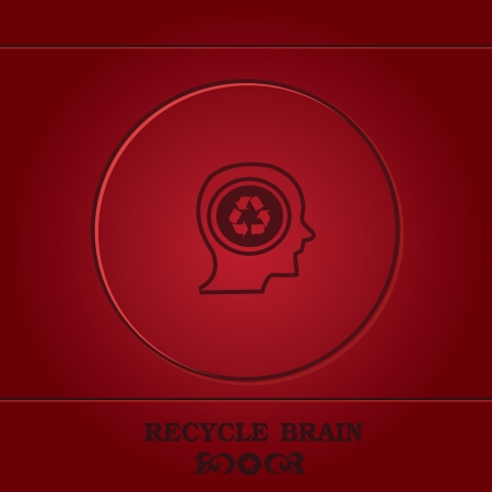 Recycle,thinking Stock Vector - 19206586