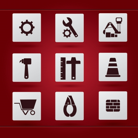 Engineer icon set,vecto Vector