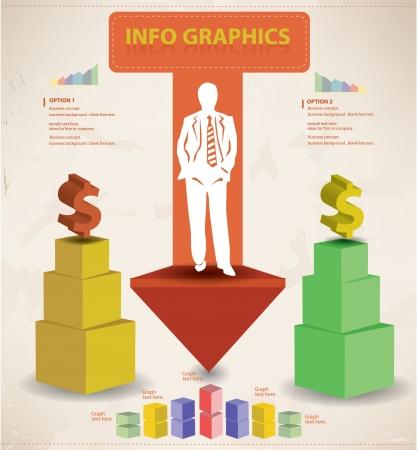 inforgraphic: Business vintage style Illustration