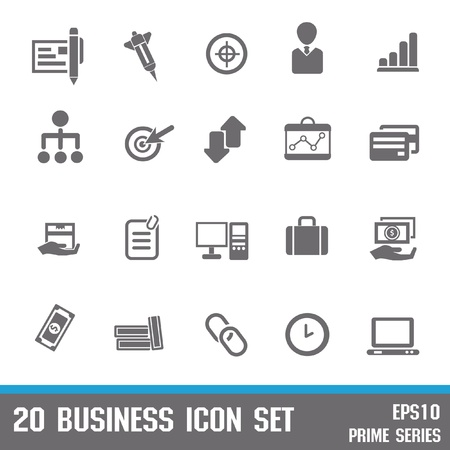 group of objects: 20 Business,Office icons,vector Illustration