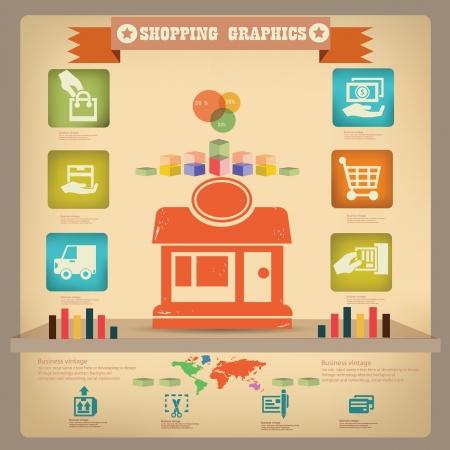 Shopping graphics design,vector  Vector